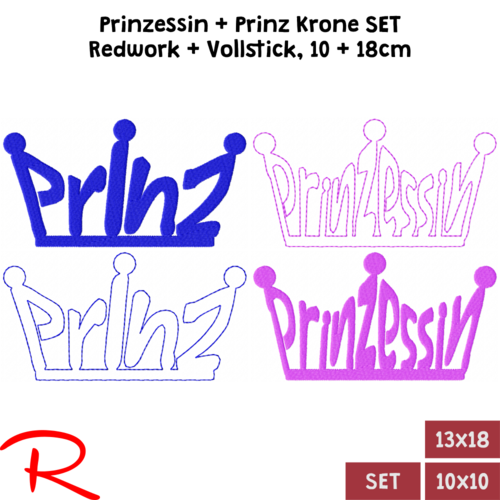 PrinzessinKrone Prinzkrone Set