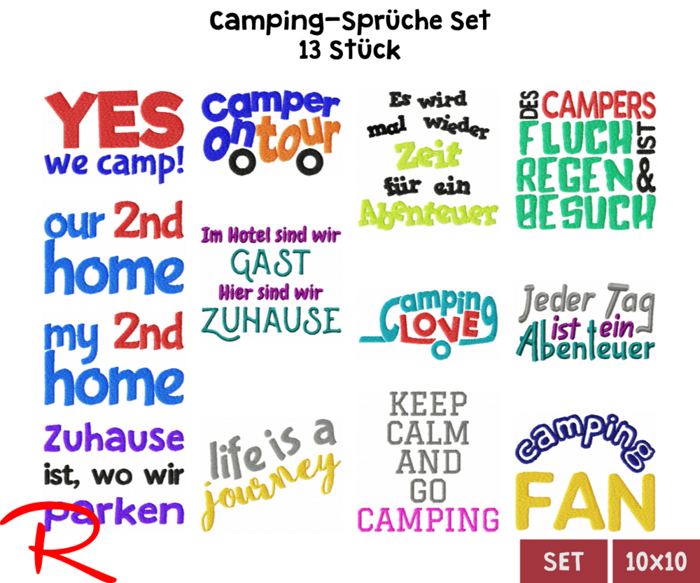Spruche Camping Rotblonder Stick