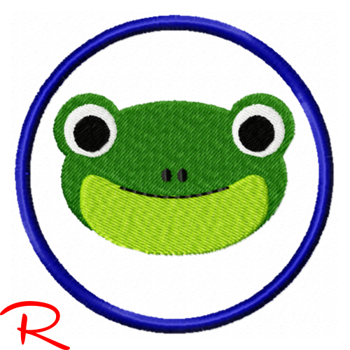 Rotblonder Stick - Freebie - Frosch Fridolin